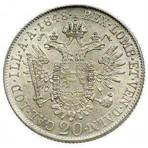Austria, Ferdinand I, 20 kreuzer 1848, Vienna