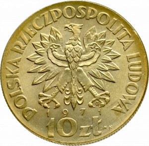 PRL, 10 złotych 1971, Warszawa - Próba