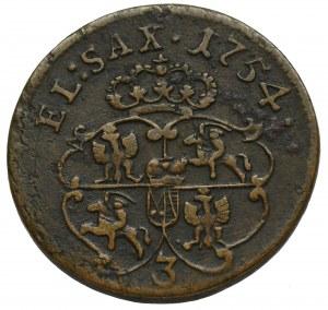 August III Sas, Grosz 1754