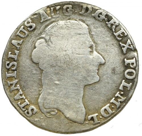 Stanisław August Poniatowski, Złotówka 1792 - przebite inicjały