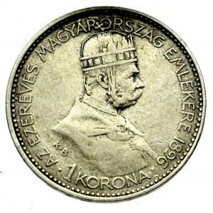 Węgry, 1 korona 1896