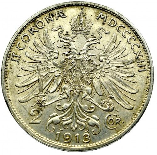 Austria-Hungary, 2 corona 1913