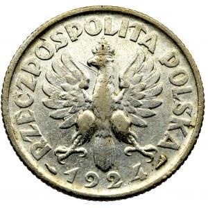 II Rzeczpospolita, 1 złoty 1924, Paryż Kobieta i kłosy