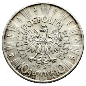 II Rzeczpospolita, 10 złotych 1937 Piłsudski