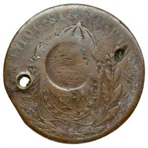 Brasilia, Pedro I, 40 reis - countermarked on 80 reis