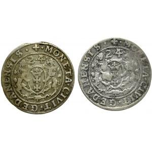 Zygmunt III Waza, Orty Gdańsk 1623/4 zestaw 2 sztuk