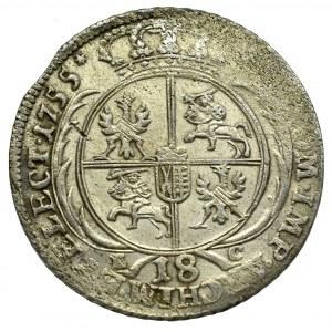 Germany, Saxony, Friedrich August II, 18 groschen 1755, Leipzig
