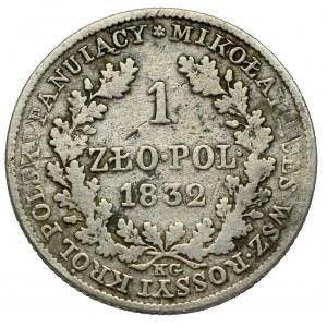 Królestwo Polskie, Mikołaj I, 1 złoty 1832 KG