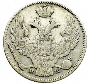 Zabór rosyjski, Mikołaj I, 30 kopiejek=2 złote 1837 Warszawa