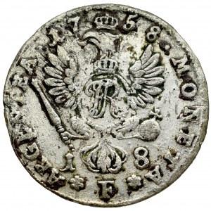 Niemcy, Prusy, Fryderyk II, ort, 1758 F, Magdeburg