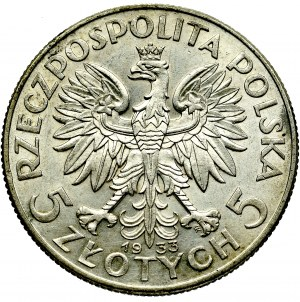 II Republic of Poland, 5 zloty 1933 Polonia
