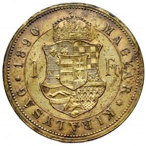 Węgry, Franciszek Józef, 1 forint 1890, Kremnica