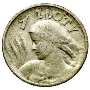 II Rzeczpospolita, 1 złoty 1925 (z kropką), Lodnyn Kobieta i kłosy