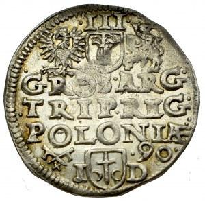 Zygmunt III Waza, Trojak 1590, Poznań