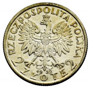 II Rzeczpospolita, 2 złote 1932, Głowa kobiety