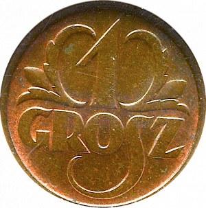II Rzeczpospolita, 1 grosz 1936 - NGC MS63 BN