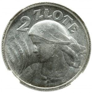 II Republic of Poland, 2 zloty 1924, Birmingham - NGC MS61
