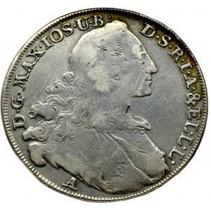 Niemcy, Bawaria, Maksymilian III Józef, talar 1765 A, Amberg