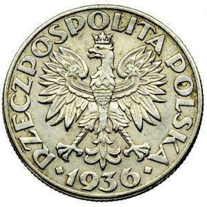 II Rzeczpospolita, 2 złote 1936 Żaglowiec