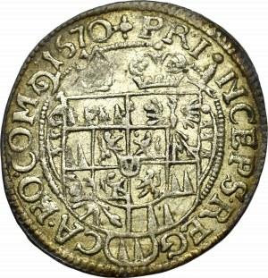 Austria, 3 kreuzer 1670 Olmutz