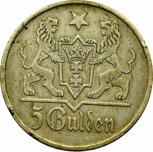 Wolne Miasto Gdańsk, 5 guldenów 1923