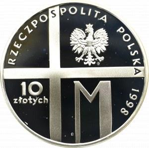 III RP, 10 złotych 1998 20-lecie pontyfikatu Jana Pawła II