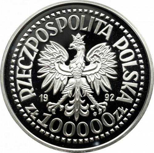 III RP, 100.000 złotych 1992 Wojciech Korfanty