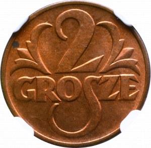 II Rzeczpospolita, 2 grosze 1939 - NGC MS64 RB
