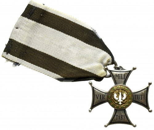 PRL, Krzyż srebrny Orderu wojennego Virtuti Militari - kopia Panasiuk