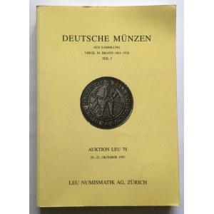 Katalog aukcyjny Deutsche Münzen 70/1997 r. - ciekawe i rzadkie, polskie i polsko-saskie monety