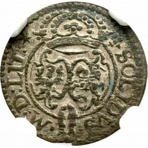 Zygmunt III Waza, Szeląg 1623, Wilno - NGC AU58