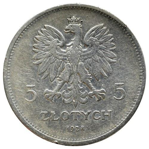 II Rzeczpospolita, 5 złotych 1928 Nike ZZM, Warszawa