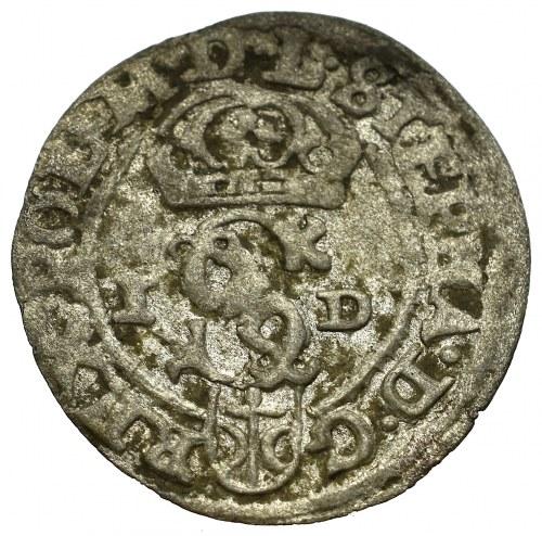 Stefan Batory, szeląg 1586, Olkusz - inicjały NH na końcu legendy