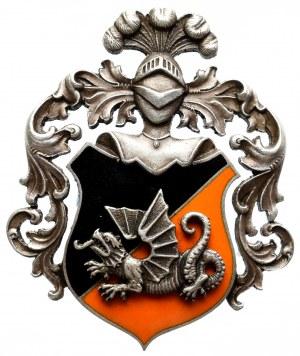 II RP, Odznaka oficerska 1 batalion pancerny Poznań - srebro Michrowski