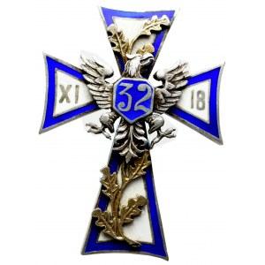 II RP, Odznaka oficerska 32 pułk piechoty Twierdza Modlin - Wabia Wabiński