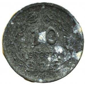 II RP, 10 groszy, 24 baon KOP Sejny - rzadkie