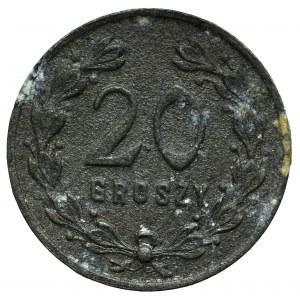 II RP, 20 groszy, 24 baon KOP Sejny - rzadkie