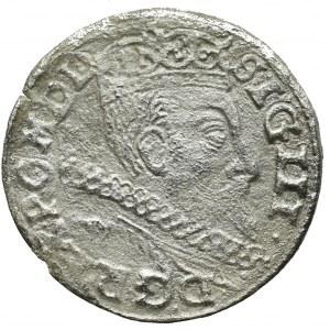 Zygmunt III Waza, Trojak 1601, Wschowa - rzadkość inicjał po prawej