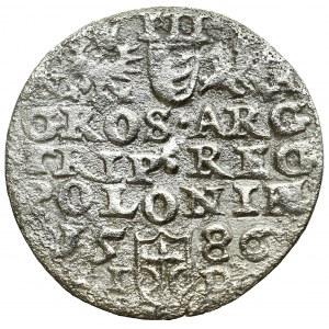 Stefan Batory, Trojak 1586, Olkusz