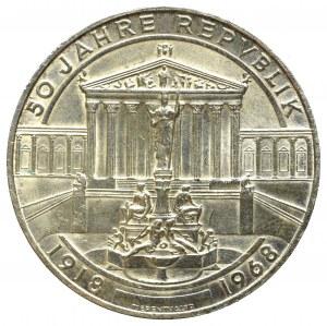 Austria, 50 schilling 1968 - 50 years of the Republic