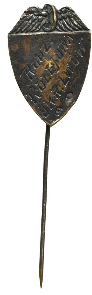 II RP, Wpinka na kształt gwoździa Rodzina Kolejowa Okręgu Lwów - srebro