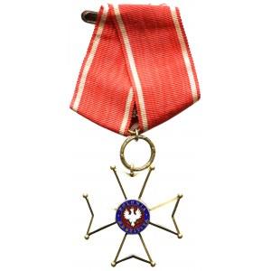 II RP, Krzyż Kawalerski Orderu Odrodzenia Polski - rzadkość na wstążce typu rosyjskiego