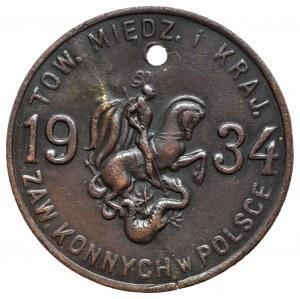 II RP, Żeton Towarzystwo Międzynarodowych i Krajowych Zawodów Konnych w Polsce 1934
