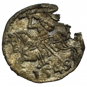 Sigismund II Augustus, 1-denar 1557, Vilnius - NGC MS63