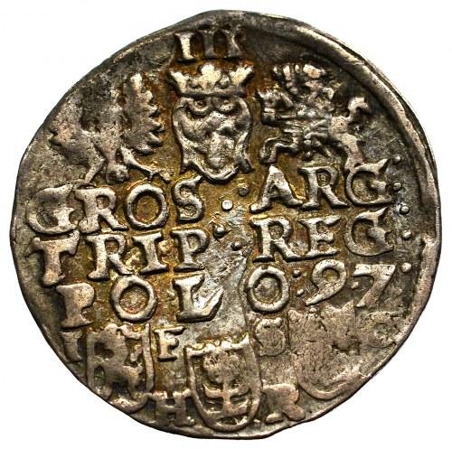 Sigismund III, 3 groschen 1597, Bromberg
