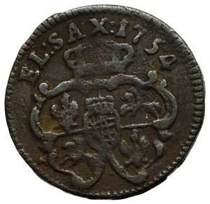August III Sas, Szeląg 1754
