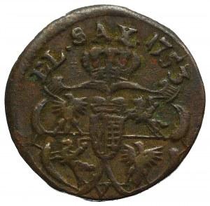 August III Sas, Szeląg 1753 - V