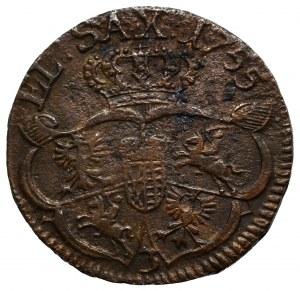 August III Sas, Grosz 1755
