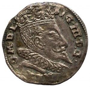 Zygmunt III Waza, Trojak 1596, Wilno - Herby Prus i Chalecki