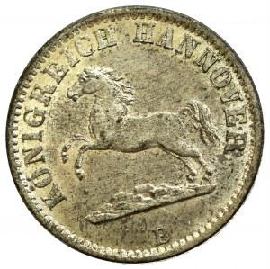 Niemcy, Jerzy V, 1/2 grosza 1858 B, Hanower